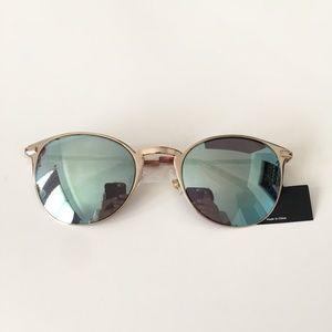 Blue & Gold Mirrored Sunglasses